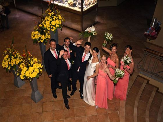 Le Mauricia wedding party