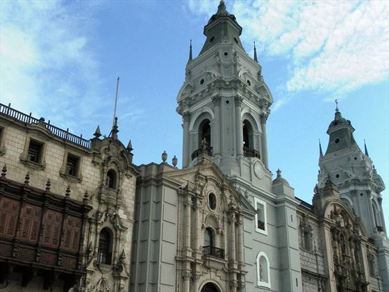 Plaza de Armas architecture in Lima, Peru's Capital City