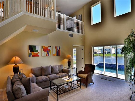 Living area at Sarasota Bradenton Area Pool Homes