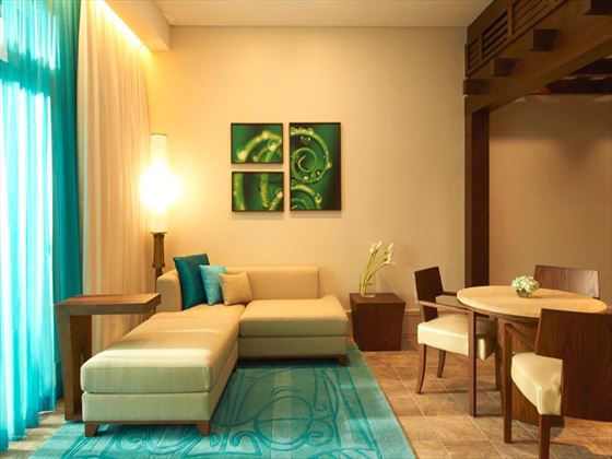 Living room area at Sofitel The Palm Apartments