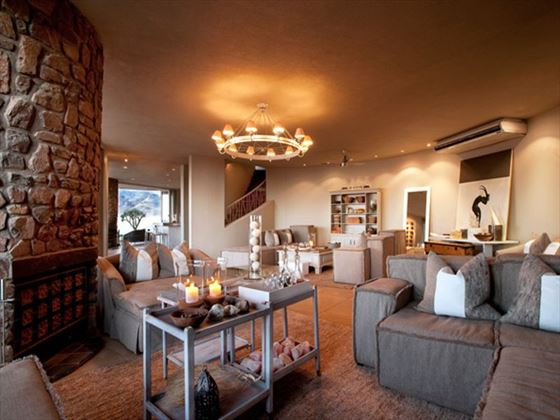 Living room at Sossusvlei Desert Lodge