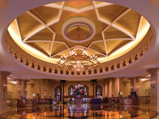 Lobby entrance to Shangri-La Qaryat al Beri