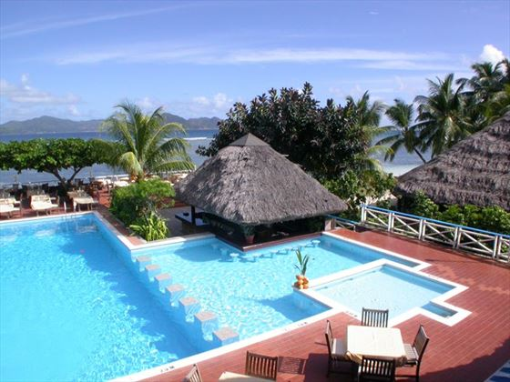 The pool at La Digue