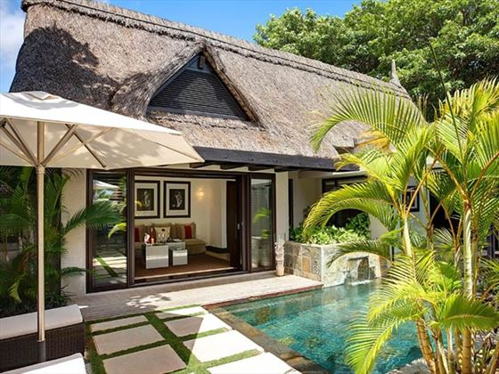 lux belle mare ocean view villa