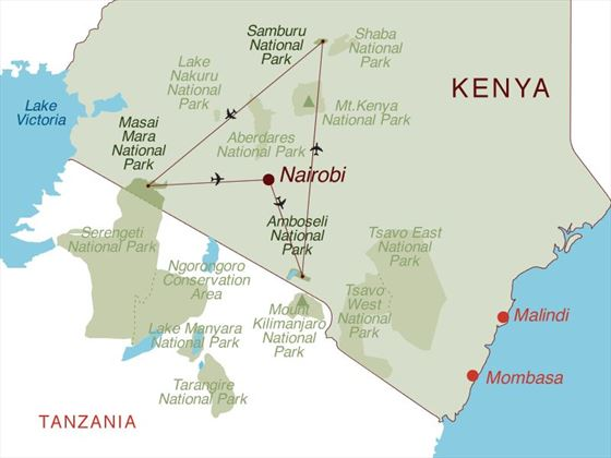 Luxury Kenya Discovery Map