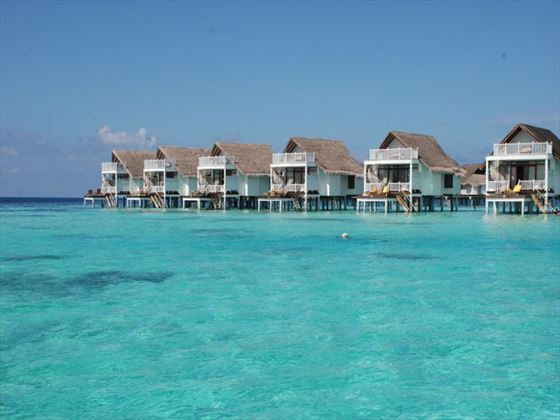 Maldives overwater cabins