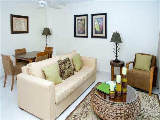 Mango Bay One-bedroom living room area
