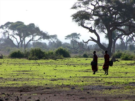 Masai people at the Amboseli National Park