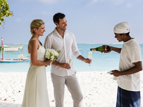 Renewal of Vows couple on Meeru Island Resort & Spa