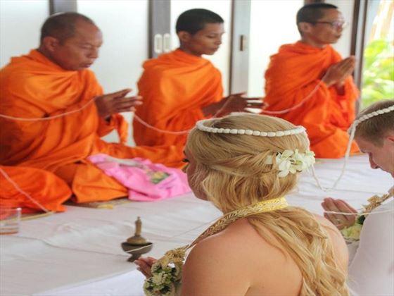 Buddhist style wedding blessing