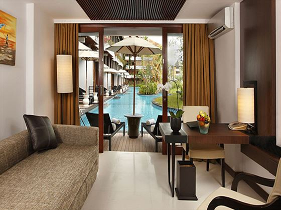 Melia Bali Lagoon Access Suite living room