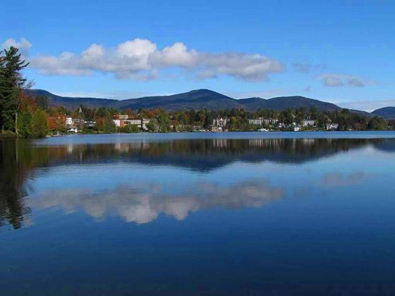 Mirror Lake, Lake Placid, New York State
