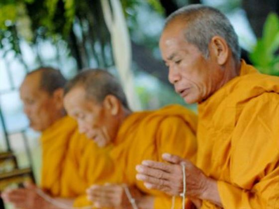 Buddhist monks conducting the ceremony