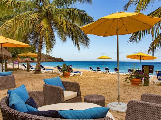 Sunloungers on the beach