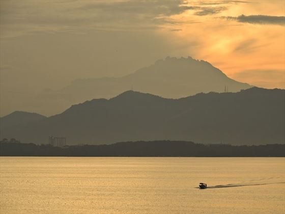 Mount Kinabalu from Gaya Island Resort, Borneo
