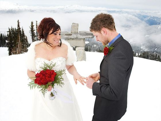 Bride & Groom mountain top wedding