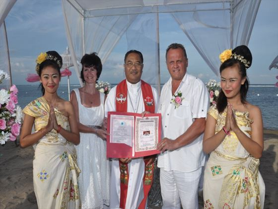 Mr and Mrs Perret, Bali