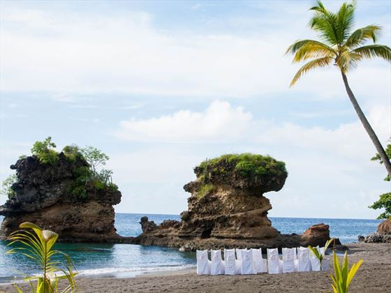 Your beach setting for your wedding, Anse Chastanet