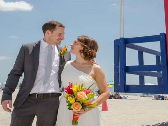 Bride & Groom, Cocoa Beach
