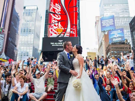 Times Square Bride & Groom