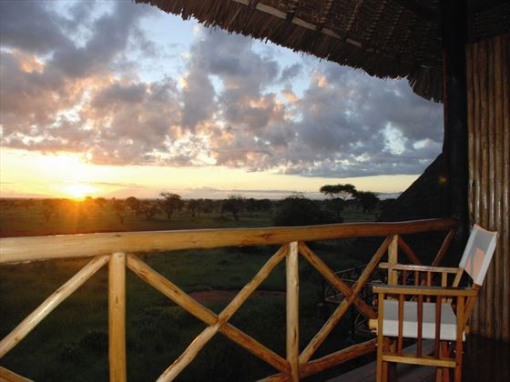 View from Ngutuni Safari Lodge