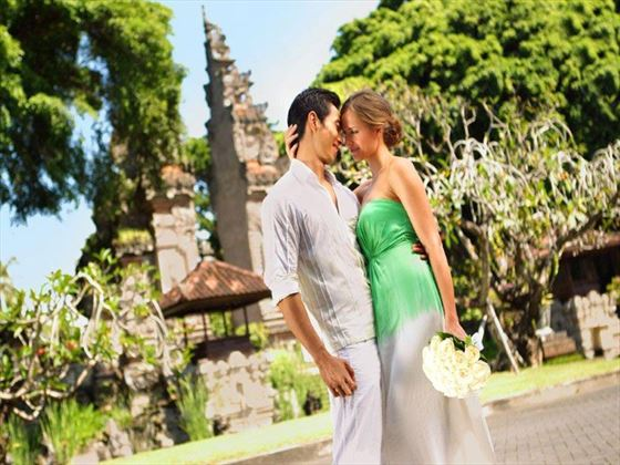 Bride & Groom at the Nusa Dua Beach Hotel