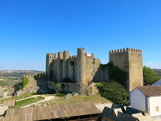 The medieval walled town of Obidos