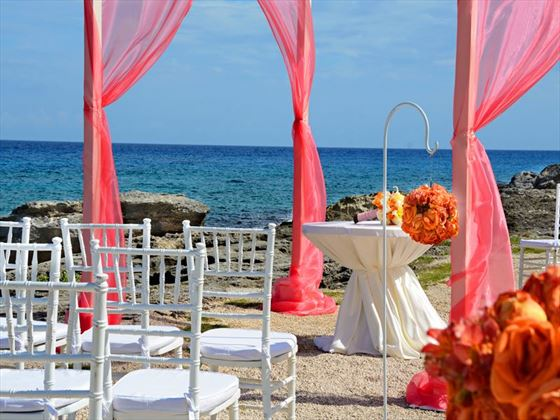 Wedding at the sea front