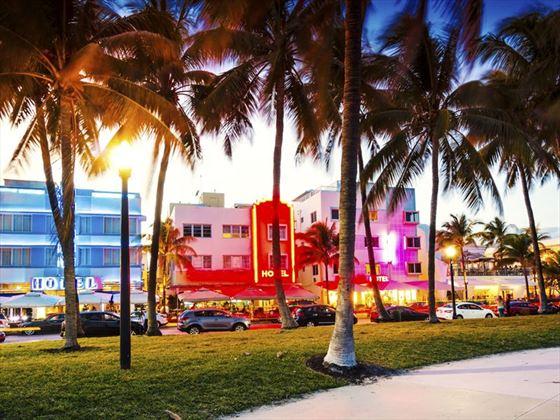 Ocean Drive Art Deco hotels, Miami