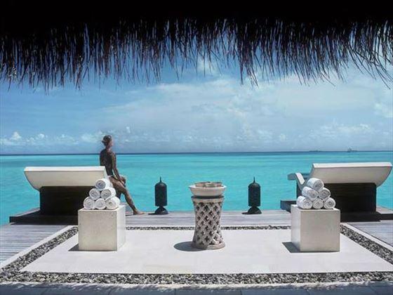 Ocean views from Jiva Spa at Taj Exotica Resort & Spa