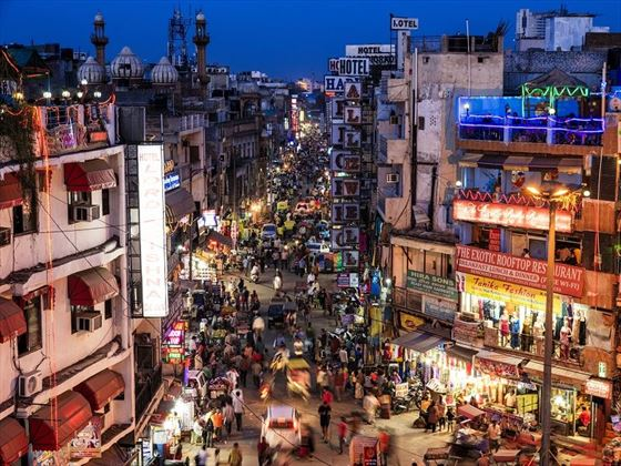 Old Delhi's Main Bazaar at Night, Delhi