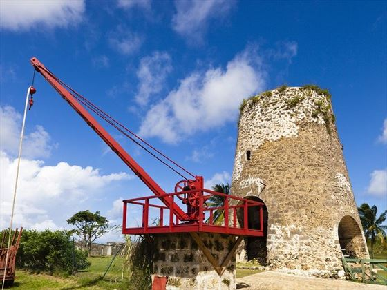 old manual crane barbados   st nicholas abbey
