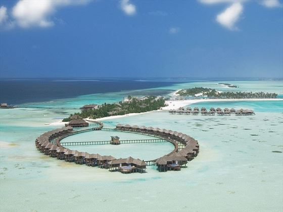 Olhuveli Beach & Spa Resort aerial view