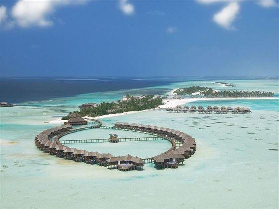 Olhuveli Beach & Spa Resort aerial view