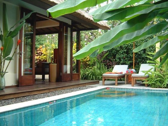 A pool villa at The Pavilions Bali