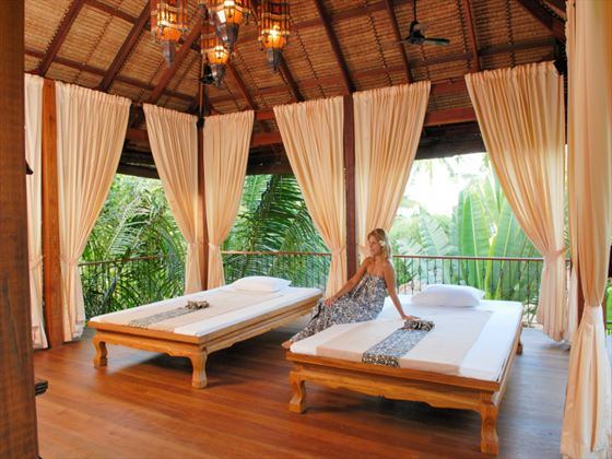 Open-air spa treatment room at Zazen Boutique Resort