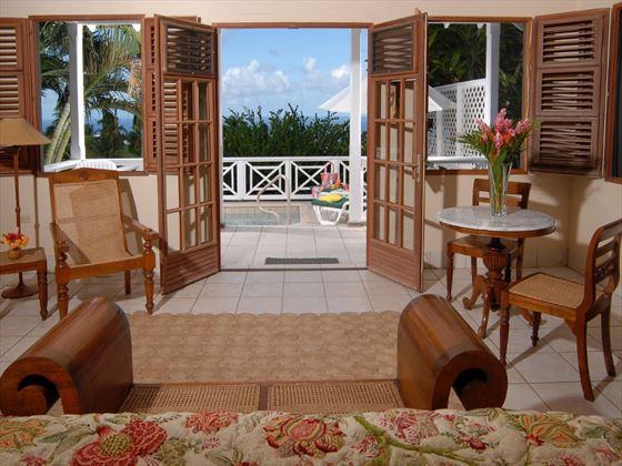 Ottley's Plantation Inn Master bedroom living room