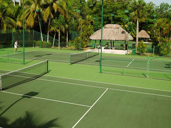 Outdoor tennis courts at Couples Swept Away