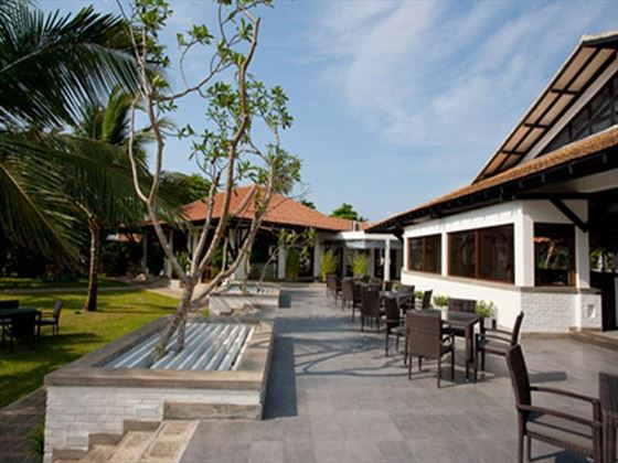 Outdoor terrace area at Club Hotel Dolphin