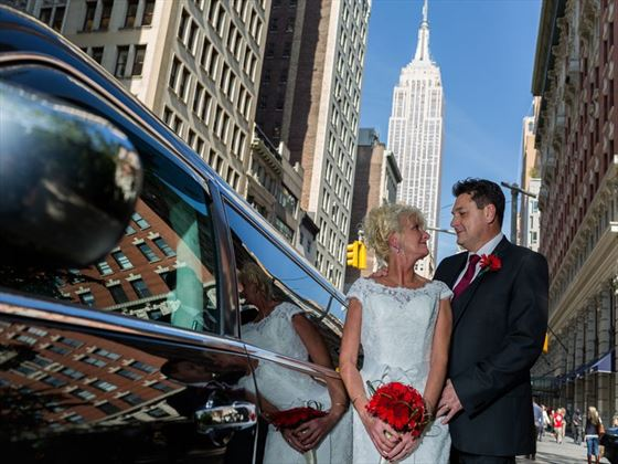 Bride, Groom and the Empire State Building as your backdrop