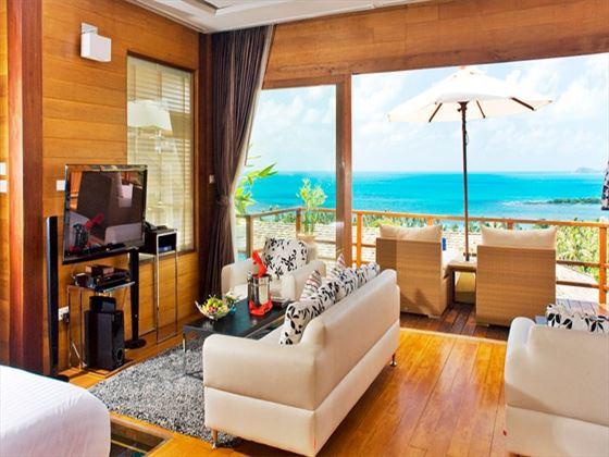 KC Resort Over-water Vill aliving room