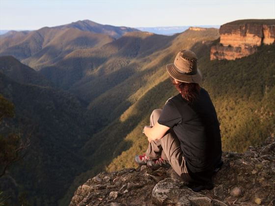 Overlooking the Blue Mountains