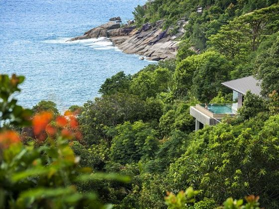 Overview of Four Seasons Resort Seychelles