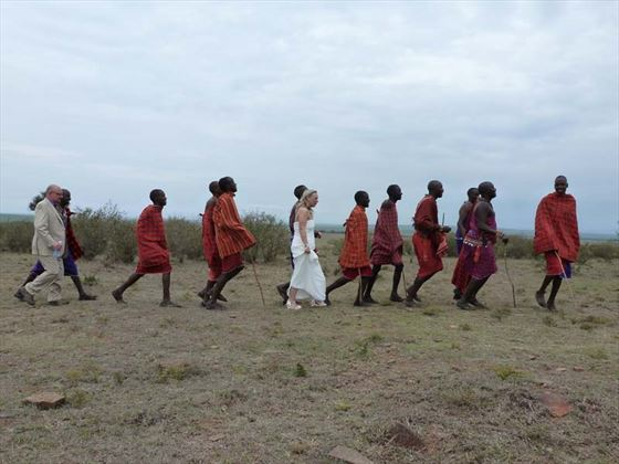 Porini Lion Camp wedding