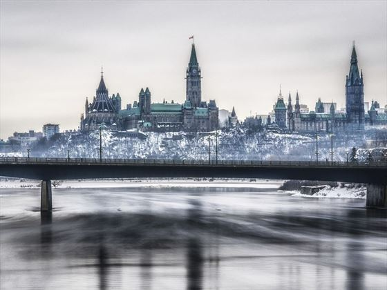 Parliament of Canada, Ottawa in winter
