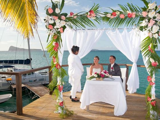 Wedding ceremony at Paradise Cove