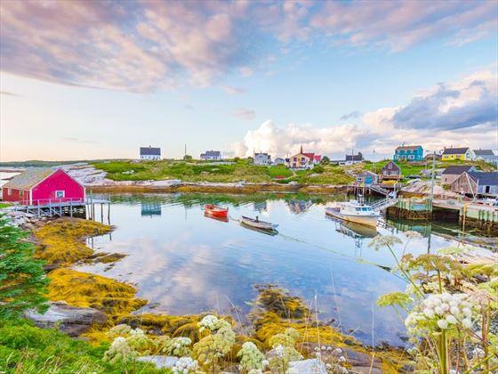 Cute houses in Peggy's Cove, Nova Scotia
