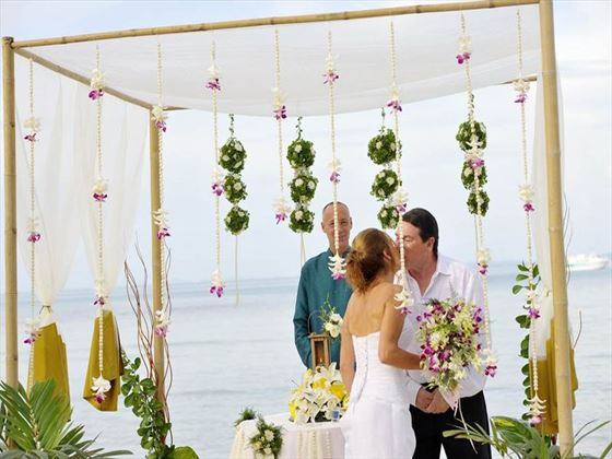 Western style wedding at Phi Phi Island Village Beach Resort
