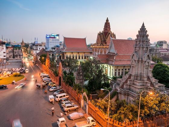 Phnom Penh at sunset