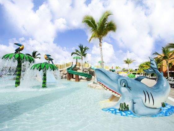 Let the kids enjoy the pirate-themed water park at Barcelo Bavaro Palace Deluxe Hotel in the Dominican Republic